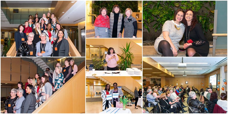 A collage of pictures from the Women of Distinction alumni and nominee reception.